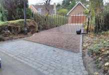 Gravel driveway installation