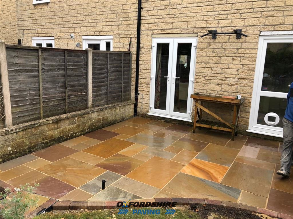 Indian Sandstone patio Witney, Oxfordshire