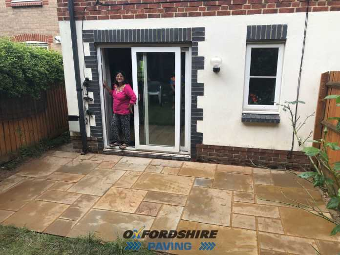 Indian Sandstone Patio in Oxford