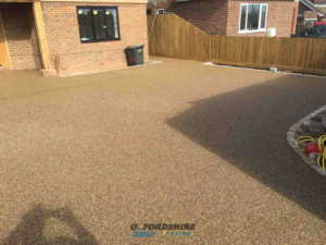 Gold Resin Driveway