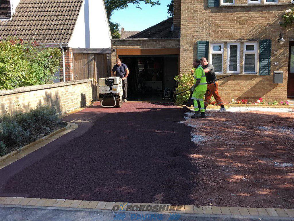 New Red Tarmac Driveway in Oxford