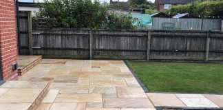 New Indian Sandstone Patio in Oxford