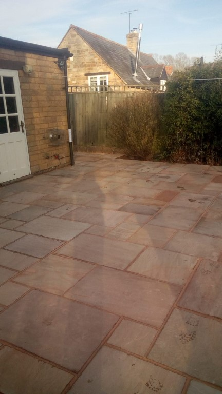 Indian Sandstone Patio in Brailes, Warwickshire