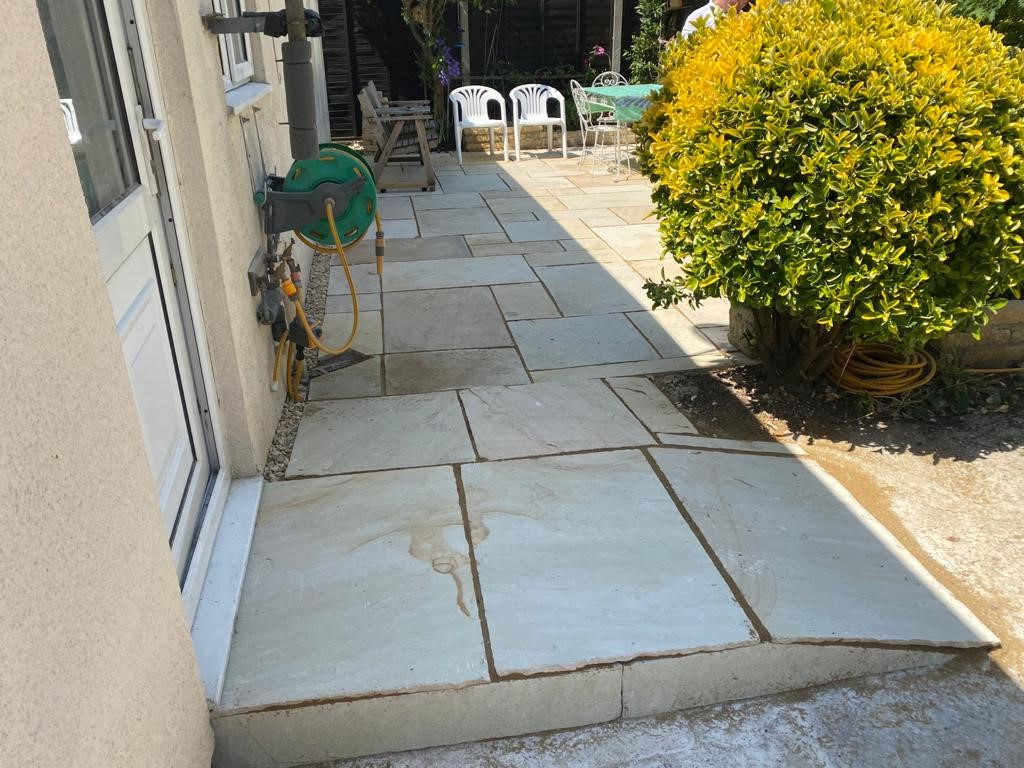 Sandstone Patio with a Ramp in Banbury