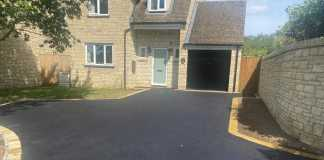 Tarmac Driveway with Buff Border in Botley