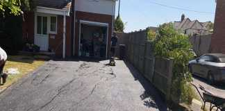 Tarmac Driveway with a Paved Border in Botley