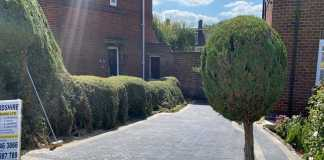 Block Paving Driveway with Adjacent Footpath in Botley