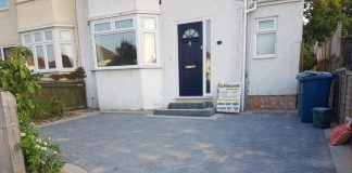 Charcoal and Light Grey Block Paving Driveway in Botley