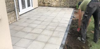 New Patio with Brick Edge in Banbury