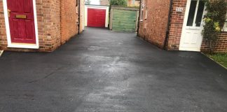 Tarmac Driveway with Block Paving and Concrete Edgings in Bicester