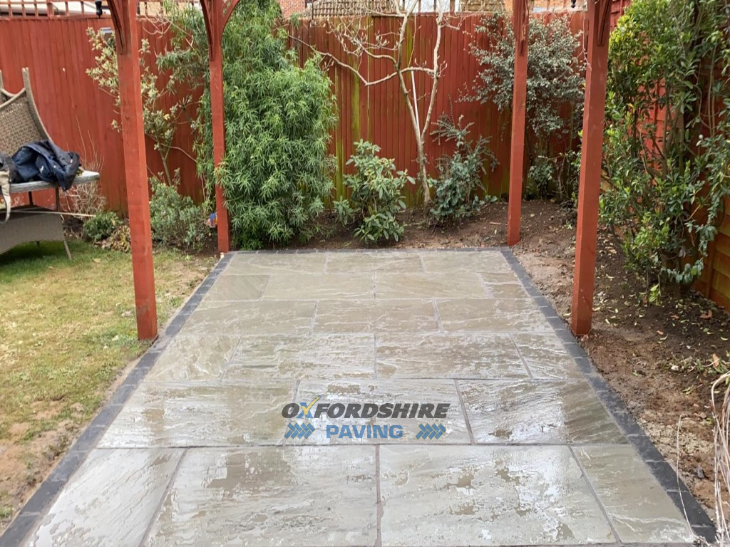 New Slabbed Patio in Botley