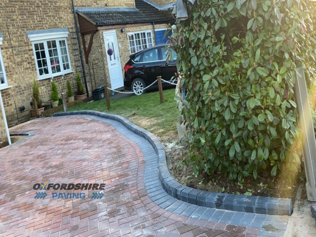 Block Paved Driveway with New Brick Wall in Carterton