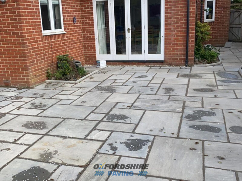 Gravel Driveway and Indian Sandstone Patio Project in Summertown