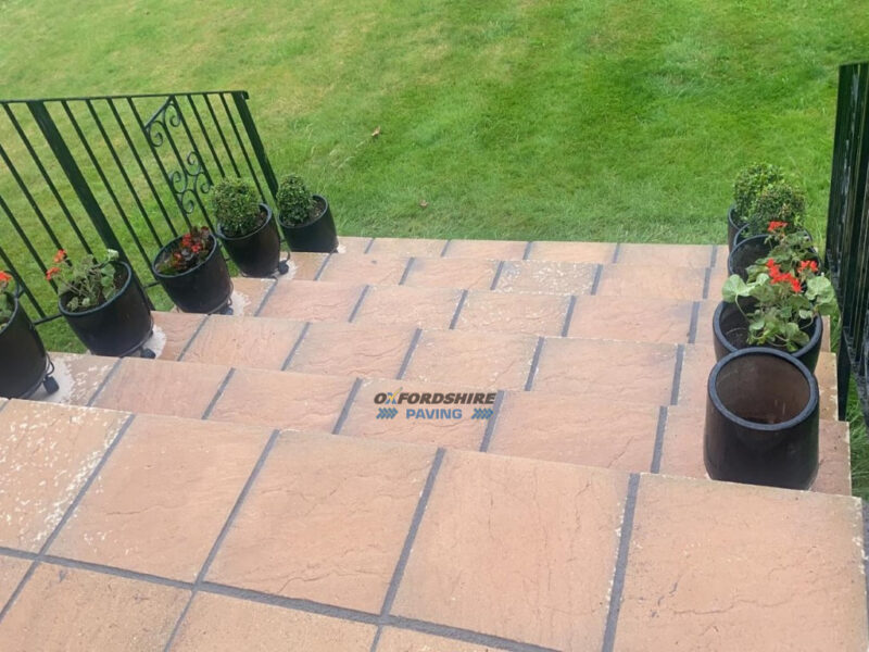 Slabbed Patio with Steps in Bicester